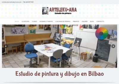Página web para escuela de pintura