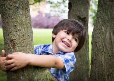 Book de fotos a un niño en el parque de los patos