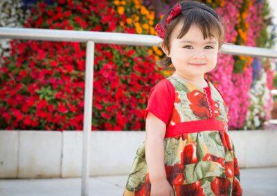 Book de fotos a una niña en el parque