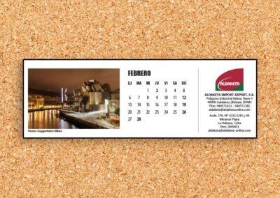 Calendarios de mesa en Bilbao