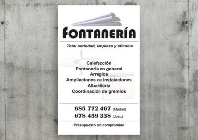 Cartel para fontanería