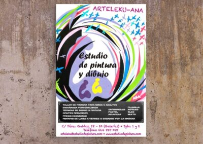 Diseño de cartel para escuela de pintura