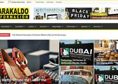 Diseño de página web para periódico