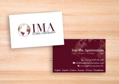 Diseño e impresión de tarjetas para consultoría