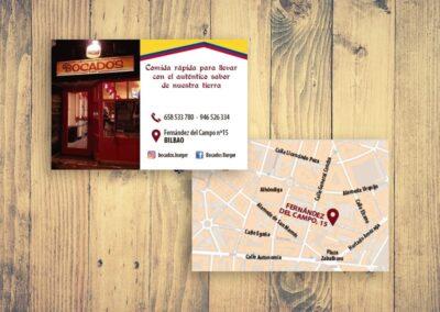 Diseño e impresión de tarjetas para restaurante