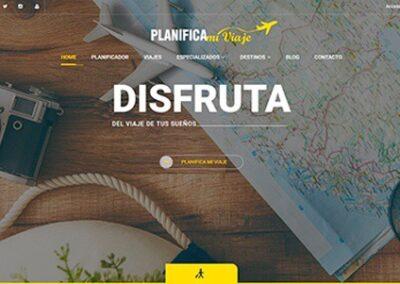 Diseño web de viajes