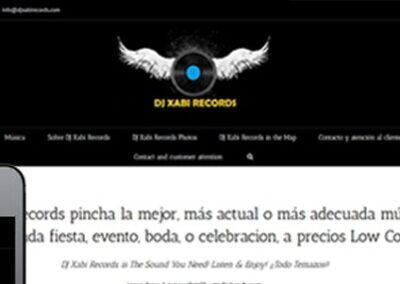 Diseño web para Dj