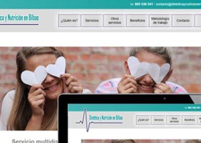 Diseño web para dietética