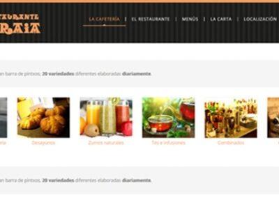 Diseño web para restaurante de Bilbao