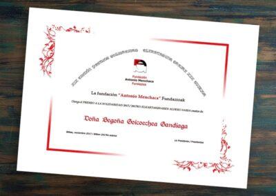 Impresión de diplomas