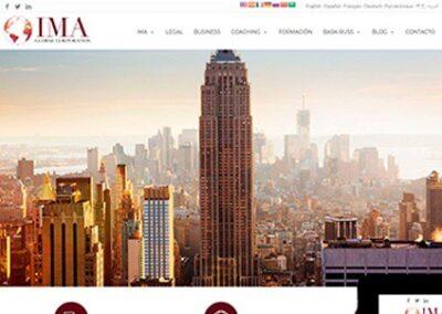 Página web para asesoría internacional