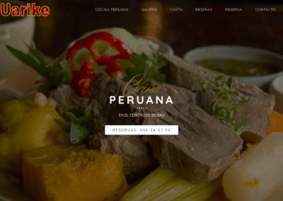 Página web de restaurante en Bilbao