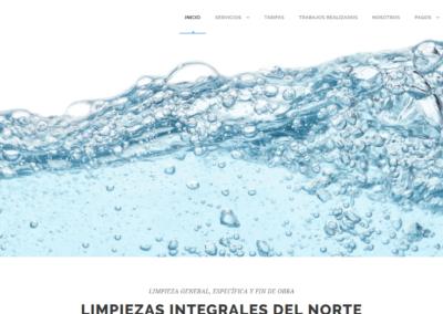Página web para empresa de limpieza
