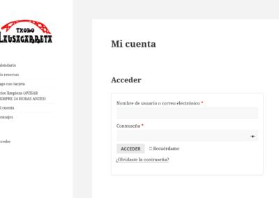 Web privada para txoko
