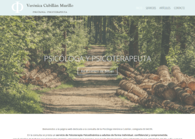 Diseño web para psicóloga