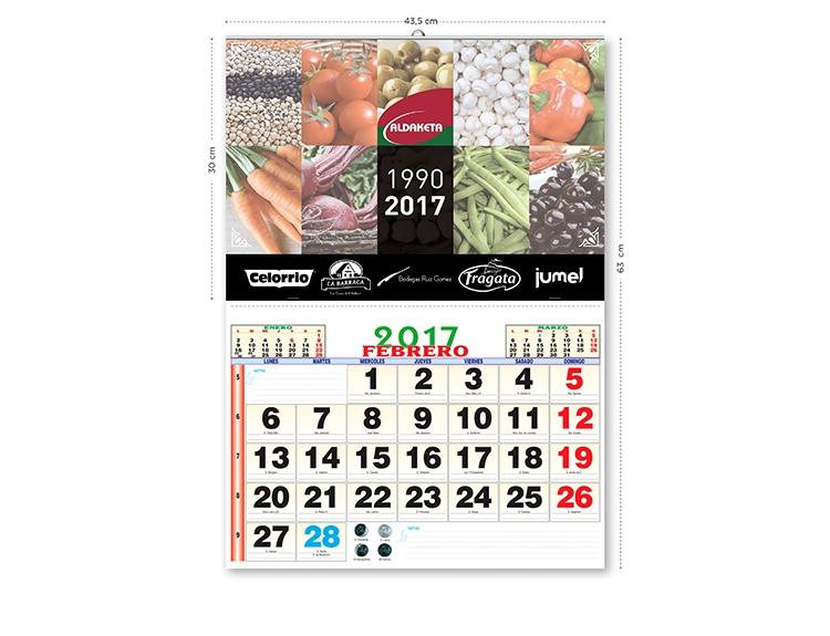 impresión de calendarios de pared