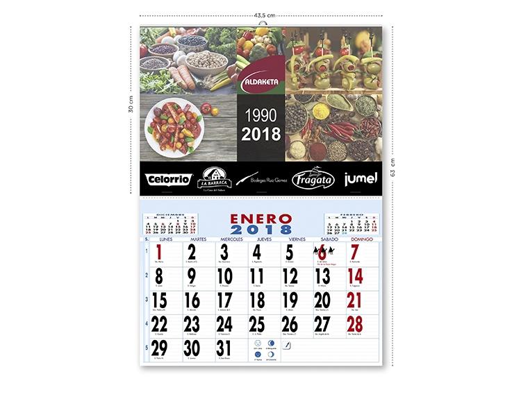 Calendarios publicitarios de 2018