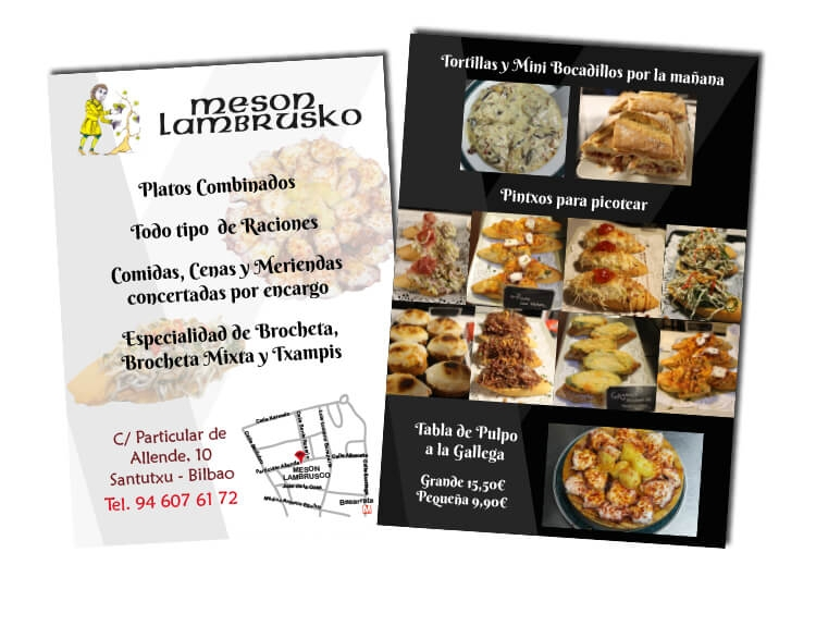 flyers para restaurante