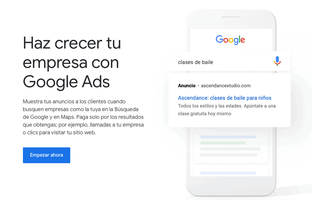 Publicidad en Google Ads o en Redes Sociales